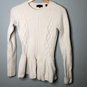 Ted Baker London cable knit peplum sweater